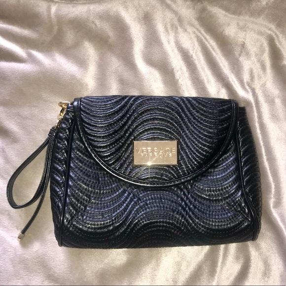 Versace Bags   Wristlet Black Clutch   Poshmark cc0666e032